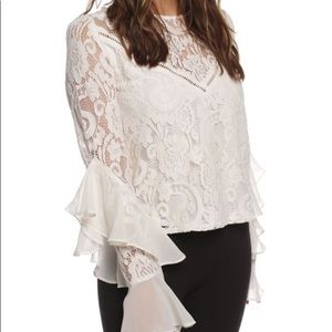 Lace top with chiffon ruffle Jack by BB Dakota M
